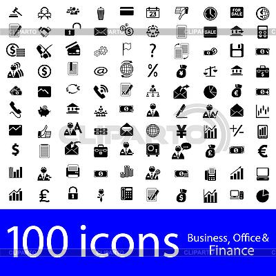 Icons - Business, Büro und Finanz | Stock Vektorgrafik |ID 3134033