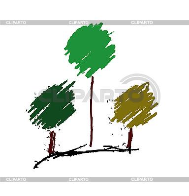 Stylizowane Drzewa | Klipart wektorowy |ID 3134080