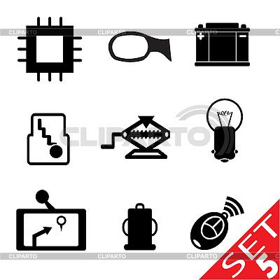 Set von Icons mit Auto-Teilen | Stock Vektorgrafik |ID 3207914