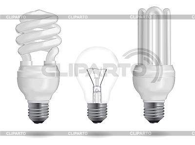 Żarówki efektywności energetycznej | Klipart wektorowy |ID 3208087