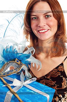 Junge Frau in einer Karneval-Maske | Foto mit hoher Auflösung |ID 3133718