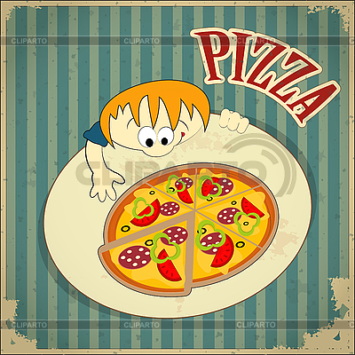 Pizza-Label | Stock Vektorgrafik |ID 3141228