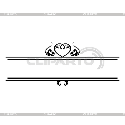 Ozdobnych linii z sercem | Klipart wektorowy |ID 3141822
