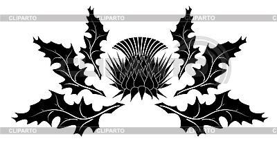 Ornament mit Distel | Stock Vektorgrafik |ID 3156325