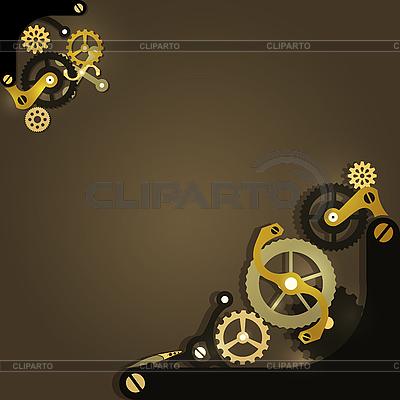 Mechanischer Hintergrund mit Zahnrädern | Stock Vektorgrafik |ID 3173847