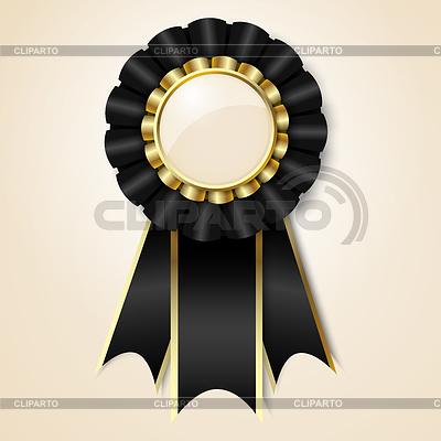 Czarna wstążka nagrody   Klipart wektorowy  ID 3320808