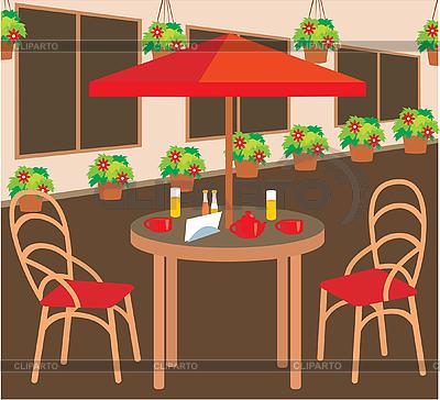 Sommer Straßencafé | Stock Vektorgrafik |ID 3142596