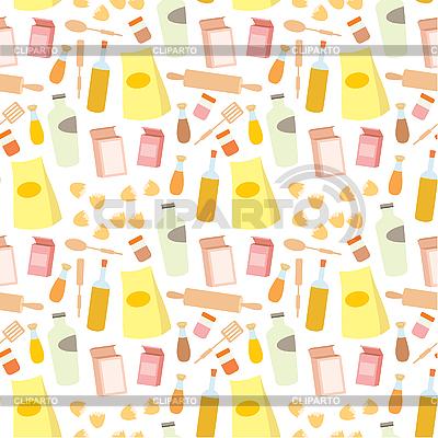 Jednolite wzór żywnością | Klipart wektorowy |ID 3166125