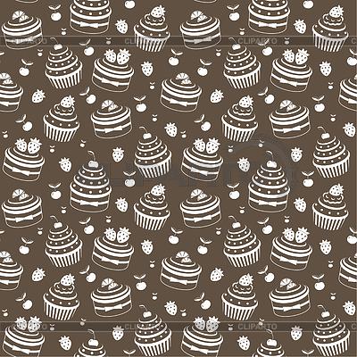 Seamless wzór Cupcake | Klipart wektorowy |ID 3268227