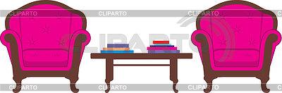Zwei Stühle und Tisch | Stock Vektorgrafik |ID 3329567