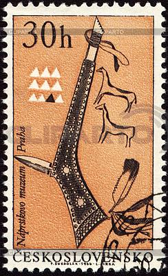 게시물 스탬프에 아메리칸 인디언의 토마 호크 | 높은 해상도 그림 |ID 3154974
