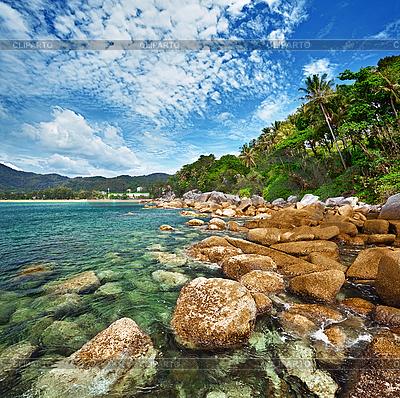 Wybrzeże z tropikalnego oceanu - Tajlandia | Foto stockowe wysokiej rozdzielczości |ID 3144352
