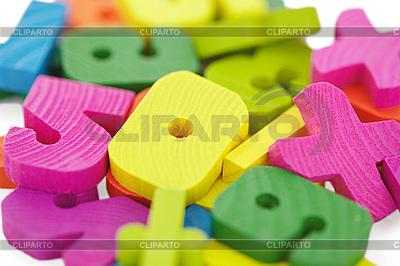 Drewniany zestaw dla dzieci do matematyki | Foto stockowe wysokiej rozdzielczości |ID 3147513