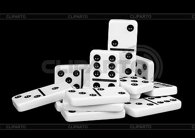 Kleine Gruppe von Dominosteinen   Foto mit hoher Auflösung  ID 3148145
