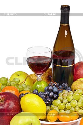 Вино и фрукты - натюрморт | Фото большого размера |ID 3152621