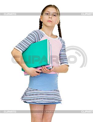 Schülerin mit Büchern | Foto mit hoher Auflösung |ID 3153687