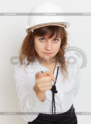 Kobieta w kasku | Foto stockowe wysokiej rozdzielczości |ID 3156640