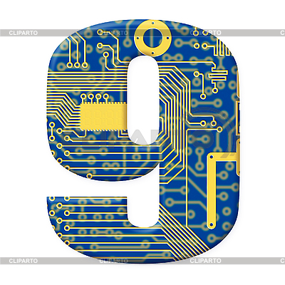 数字电子电路板 | 高分辨率插图 |ID 3156740