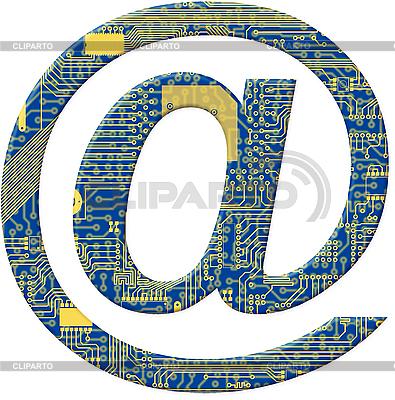 E-Mail-Symbol als elektronische Plattine | Illustration mit hoher Auflösung |ID 3156762