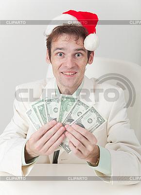 Clerk hat Weihnachten erhaltenen Prämie | Foto mit hoher Auflösung |ID 3159737