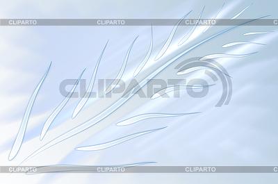 Hellblauer abstrakter Hintergrund mit Feder | Illustration mit hoher Auflösung |ID 3160968