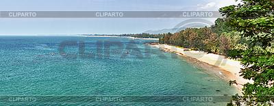 Panorama des tropischen Strands - Thailand, Phuket   Foto mit hoher Auflösung  ID 3183635
