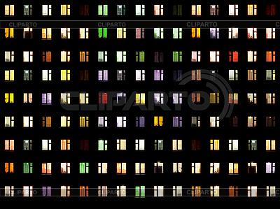 Nahtlose Textur - Fenster in der Nacht | Foto mit hoher Auflösung |ID 3183686