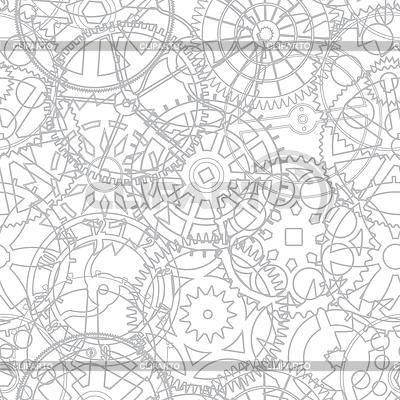 Бесшовная текстуры из часовых шестеренок | Векторный клипарт |ID 3290948