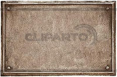 Alte gusseiserne Plakette | Foto mit hoher Auflösung |ID 3297782