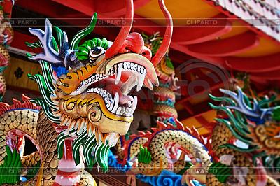 Дракон - статуя в китайском храме | Фото большого размера |ID 3330396