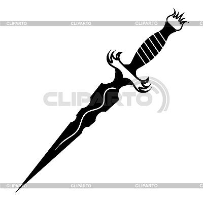 匕首纹身 | 向量插图 |ID 3184927