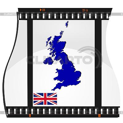 Filmaufnahmen mit nationalen Karte von Großbritannien | Stock Vektorgrafik |ID 3185388