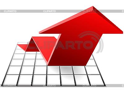 Die Farbe Diagramm mit Pfeil | Stock Vektorgrafik |ID 3206128