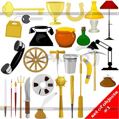 Set von Objekten | Stock Vektorgrafik |ID 3279511