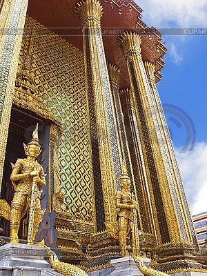 卫队的寺庙在曼谷的玉佛寺 | 高分辨率照片 |ID 3203316