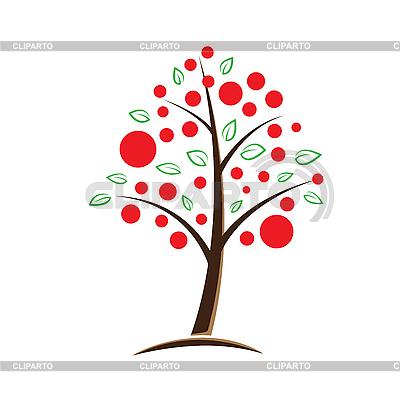 Яблоня символический векторных