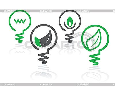 Środowisko ikony green żarówki | Klipart wektorowy |ID 3178810