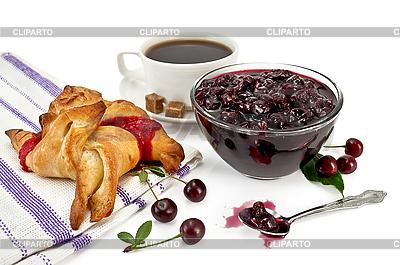 Jam Kirsche mit Brötchen | Foto mit hoher Auflösung |ID 3203449