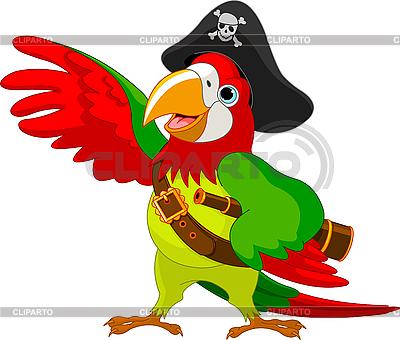 Попугай пират | Векторный клипарт |ID 3187355