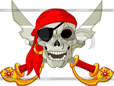 Czaszki Pirate | Klipart wektorowy |ID 3187357