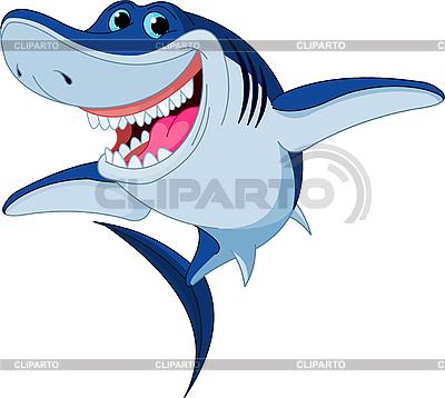 Cartoon Zabawna shark | Klipart wektorowy |ID 3187391