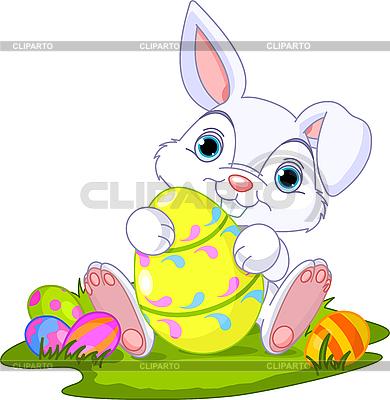 Ostern. Hase mit Osterei | Stock Vektorgrafik |ID 3189178