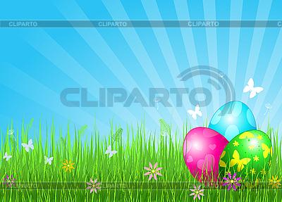 Schöner Hintergrund mit Ostereiern | Stock Vektorgrafik |ID 3199680