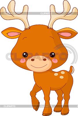 Śmieszne Deer | Klipart wektorowy |ID 3204917