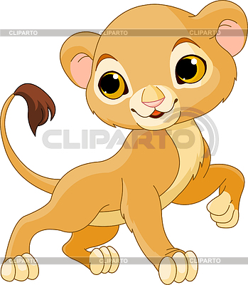 Tapferer junger Löwe | Stock Vektorgrafik |ID 3227606