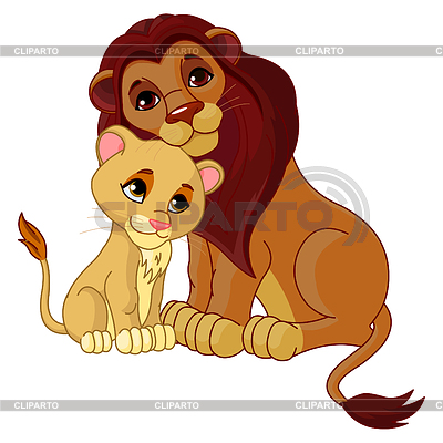 Lionfather on Illustration Of Lion Father Together With His Cub      Pushkin04