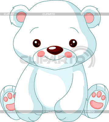 Funny Polar Bear | Klipart wektorowy |ID 3229511