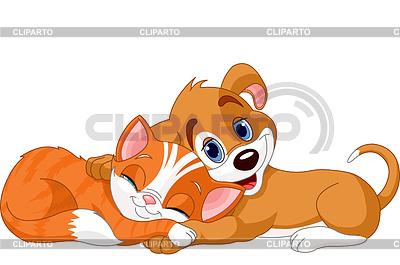 Pies i kot | Klipart wektorowy |ID 3301410