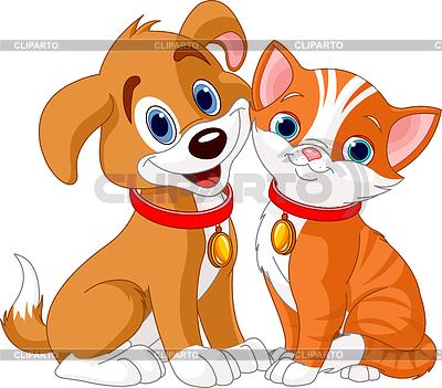 Psów i kotów | Klipart wektorowy |ID 3311328