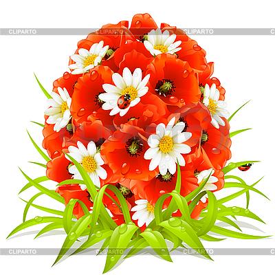 Frühling Blumen in Form von Ostereiern | Stock Vektorgrafik |ID 3198089